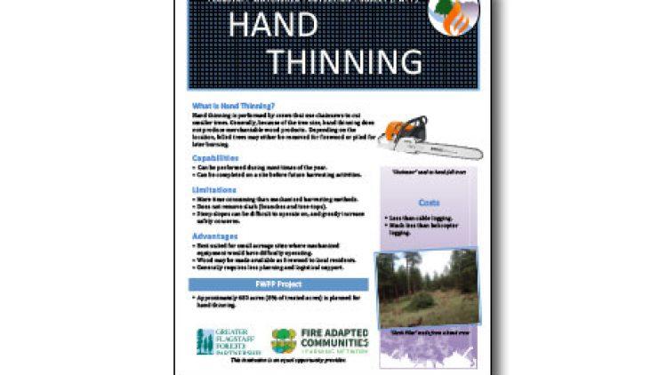 Harvesting Method Fact Sheet – Hand Thinning